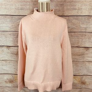 J. Crew light pink rollneck sweater